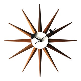 Restored Original George Nelson Spike Clock, 1950's