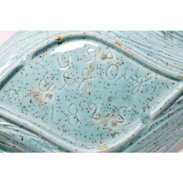 Ceramic Vintage Turquoise California Originals Ceramic Ashtray For Sale - Image 7 of 10