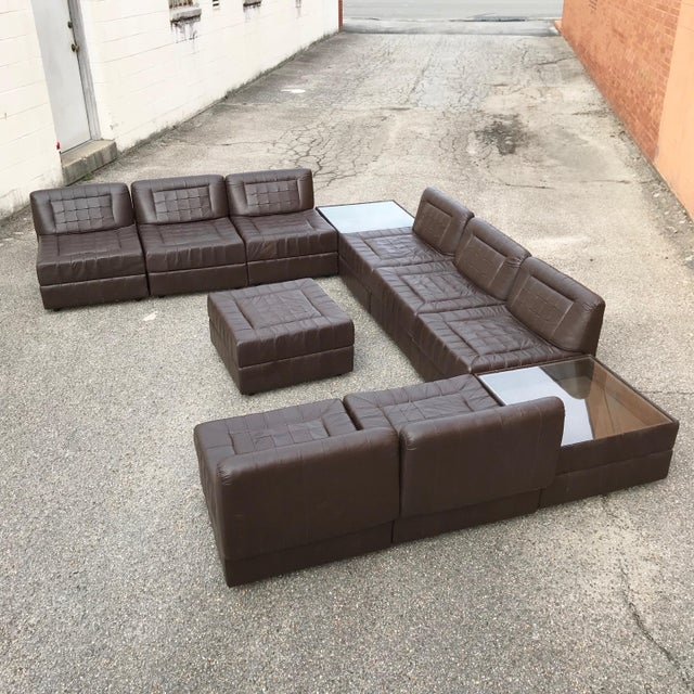 Modular Leather Sectional Sofa by Percival Lafer For Sale - Image 13 of 13