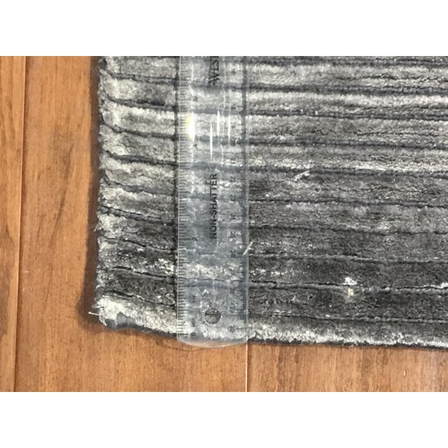 Contemporary Contemporary Striped Gray Rug (12x15) For Sale - Image 3 of 6