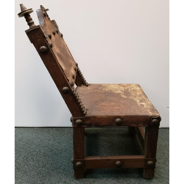 Late 19th Century Late 19th Century Ashanti Asipim Royal Court Chair From Ghana For Sale - Image 5 of 7