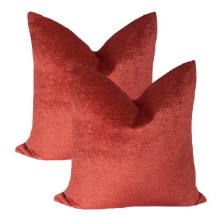 """""""Peppers in Paradise"""" Chenille Pillows - A Pair For Sale"""