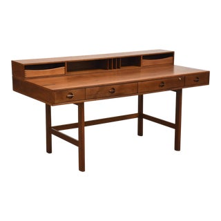 Jens Quistgaard for Løvig Danish Teak Fliptop Desk For Sale