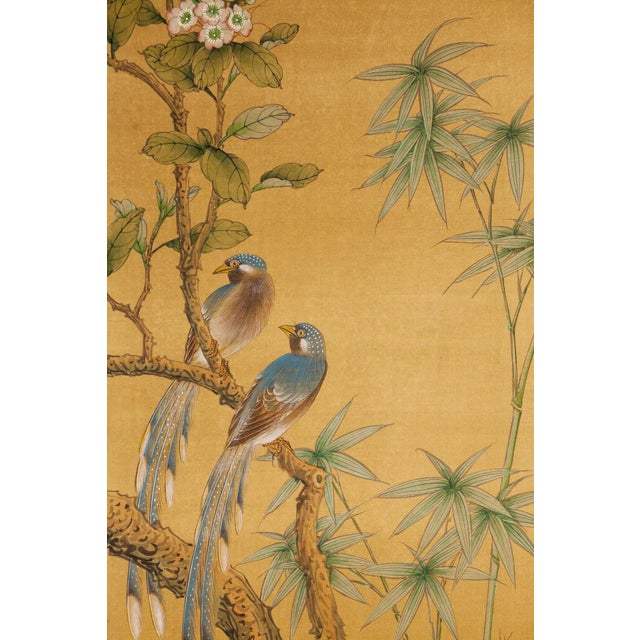 A stunning original art, ready to hang as a statement anchoring piece. Inspired by the Rinpa School of Japanese paintings,...