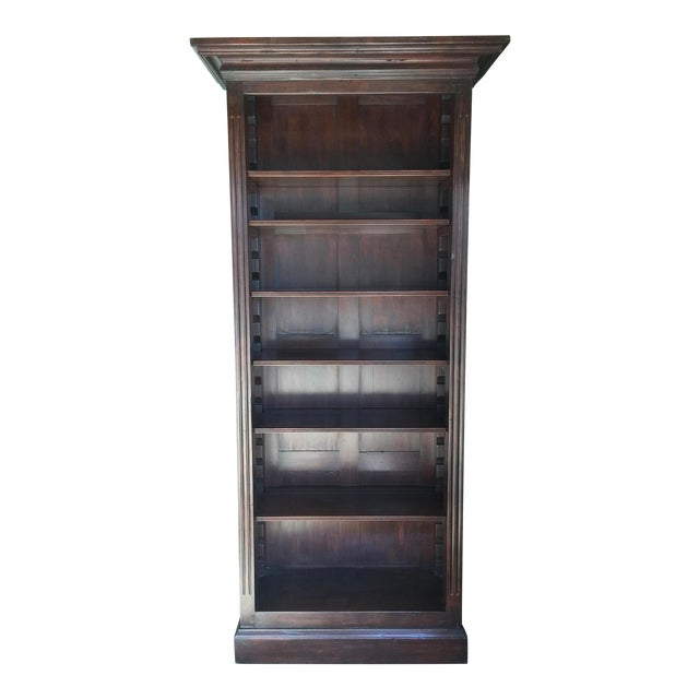 Rustic Solid Walnut Bookcase For Sale