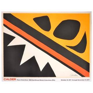 Alexander Calder Pace/Columbus Exhibition Hand Lithograph, 1971 For Sale