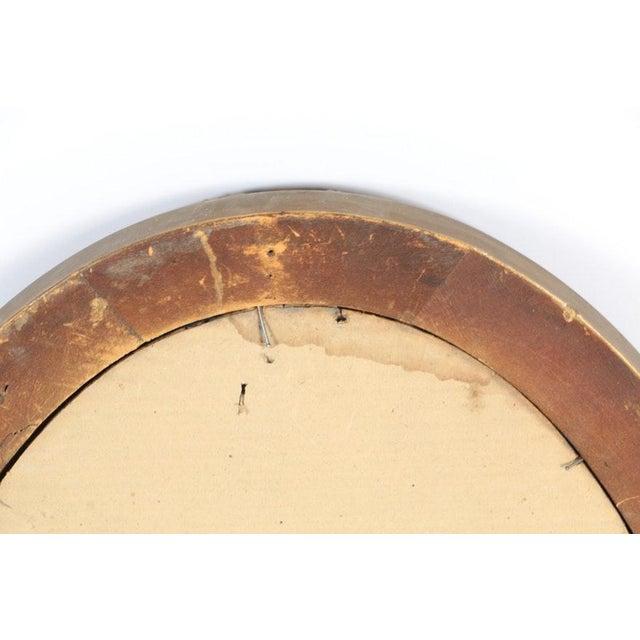 Vintage Oval Giltwood Art Deco / Nouveau Wall Mirror   Chairish