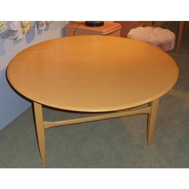 Heywood drop-leaf utility table, Recently refinished in wheat by Strictly hey-wake. Excellent condition. Price is firm....