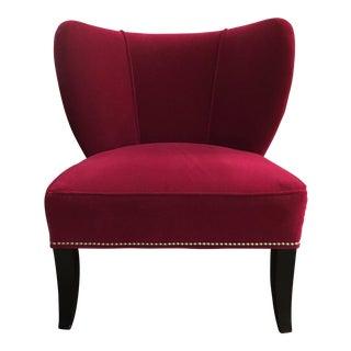 Modern Dark Pink Side Chair For Sale