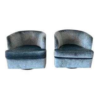 Milo Baughman Chrome Case Swivel Chairs - a Pair For Sale