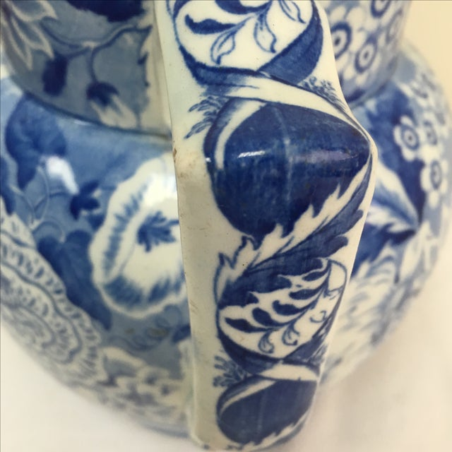 Antique 19th C. English Blue Transferware Pitcher - Image 7 of 8