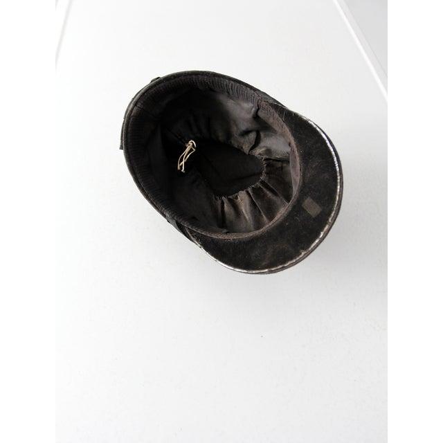 Black Vintage Equestrian Hat For Sale - Image 8 of 8