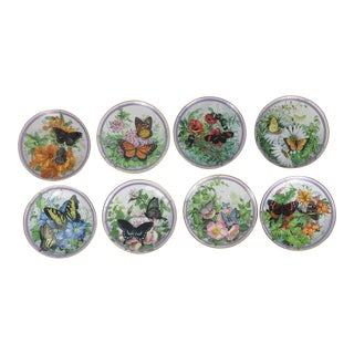 Paul Sweany Butterfly Garden Plates - Set of 8 For Sale
