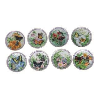 Paul Sweany Butterfly Garden Plates - Set of 8
