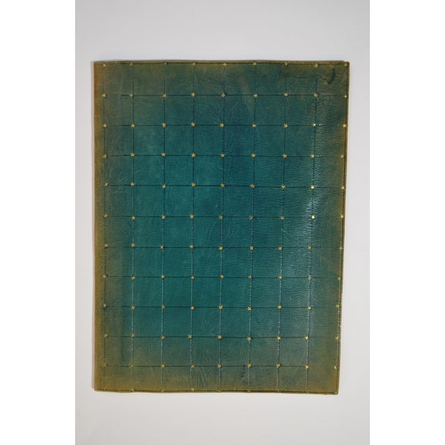 Early 20th Century Antique Green Leather Portfolio For Sale In New York - Image 6 of 6