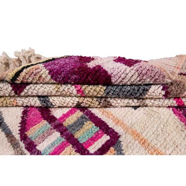 Vintage Azilal Moroccan Wool Rug For Sale In New York - Image 6 of 12