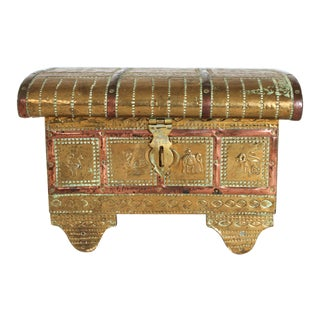 Vintage Asian Style Jewelry Box For Sale