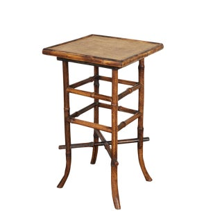 Small English Victorian Tiger Bamboo Table