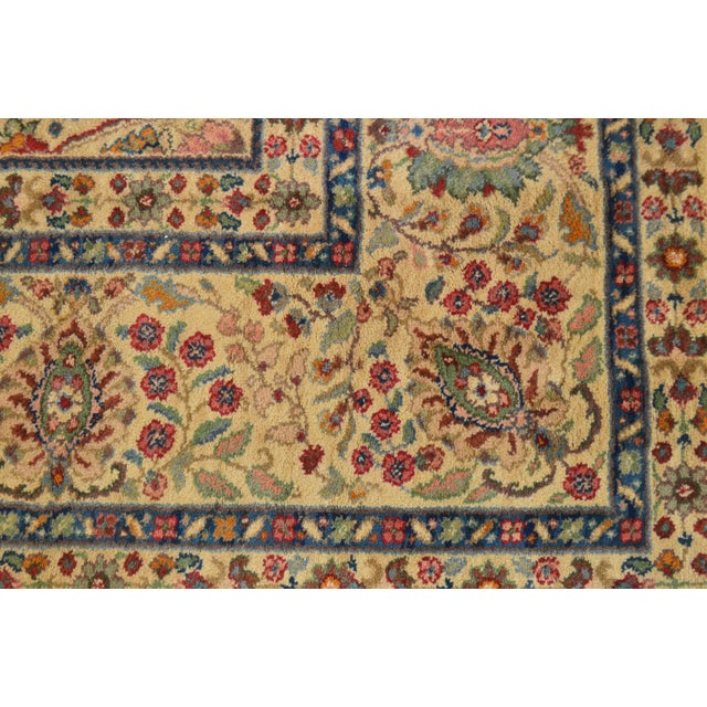 """1990s Karastan Samovar Tea Wash Tabriz Medallion 8' 8"""" x 10' Room Size Rug For Sale - Image 5 of 12"""