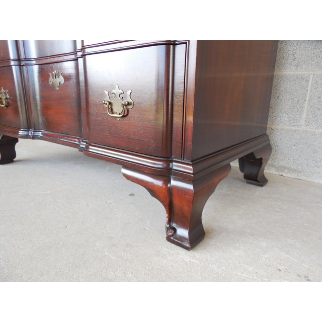 KINDEL Chippendale Style Mahogany Block Front Chest - Image 7 of 11