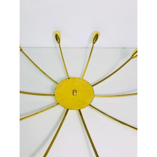 1960s Mid-Century Modern Brass Sputnik 8-Arm Chandelier, Germany For Sale - Image 10 of 11