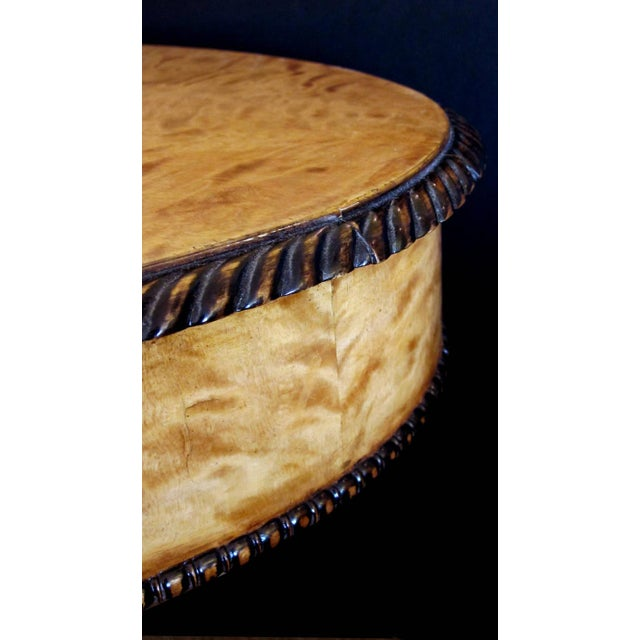 Warmly Patinated Swedish Biedermeier, Oval Birch Center Table - Image 3 of 4