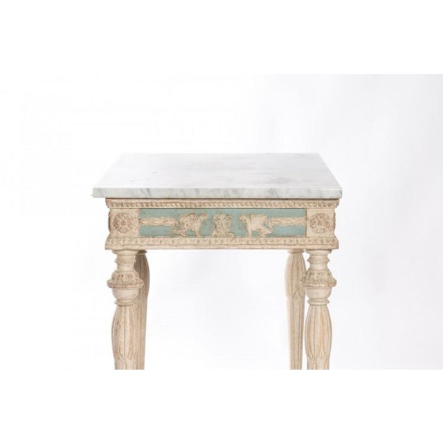 Blue Early 19th Century Swedish Empire Console For Sale - Image 8 of 10