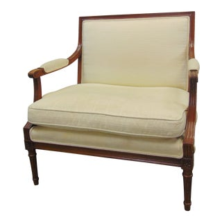 Early 20th Century Louis XVI Fruitwood Lounge Chair For Sale
