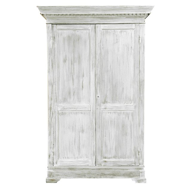 19th Century Swedish Whitewashed Pine Armoire For Sale - Image 12 of 12
