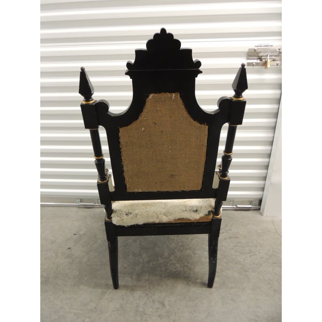 Vintage Moroccan Mother-Of-Pearl Inlaid Frame and Ebonized Wood For Sale - Image 11 of 12