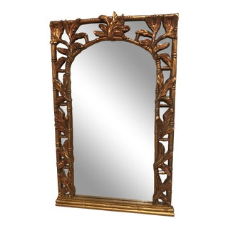 Vintage Gold Gilt Wall Mirror For Sale