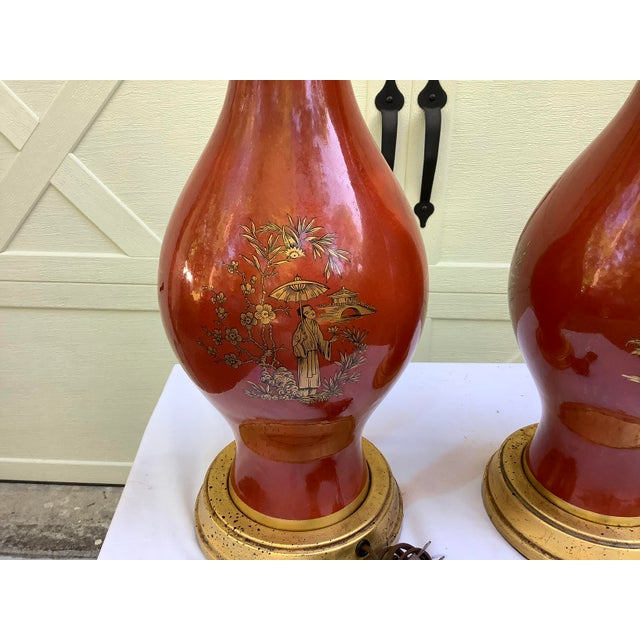 1960s Frederick Cooper Chinoiserie Lamps, a Pair For Sale - Image 5 of 13