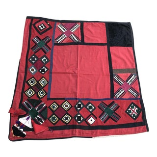 Antique Suzani Fabric For Sale