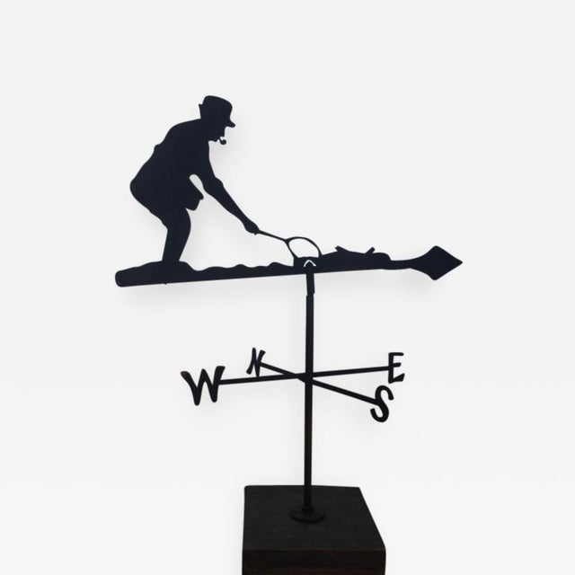 Mid 20th Century Mid 20th Century Fly Fisherman Weathervane For Sale - Image 5 of 5