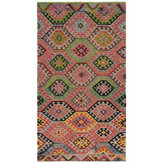 "Turkish Handmade Kilim Rug-6'0"" X 11'3"" For Sale"