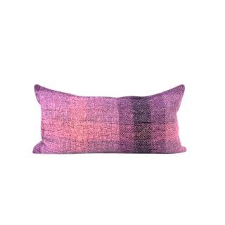 """Purple Violet Texture Mohair Accent Pillow 12"""" x 22"""""""