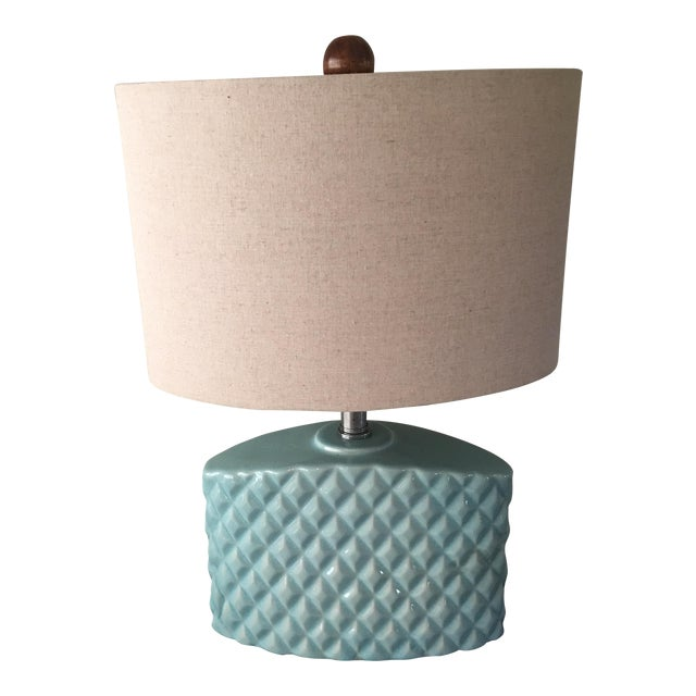 Automax Mid Century Turquoise Lamp - Image 1 of 6