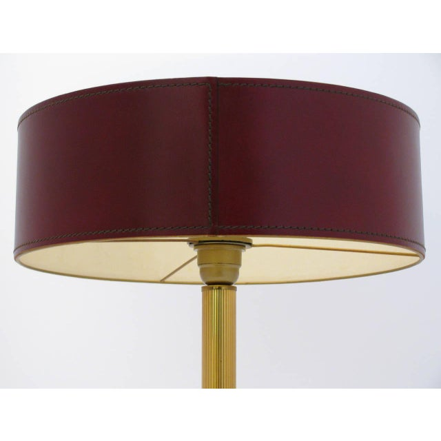 Jacques Adnet Leather-Clad Table Lamp - Image 3 of 8