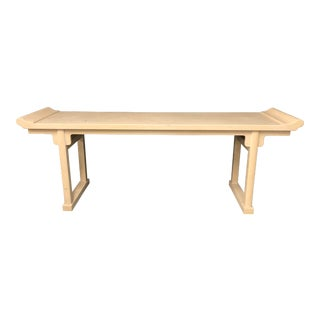 20th Century Pagoda Console Table by McGuire For Sale