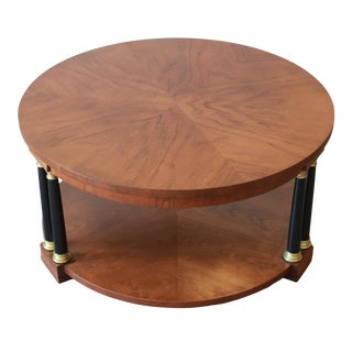 Baker Furniture Neoclassical Round Coffee Table For Sale