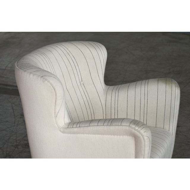 Fritz Hansen Attributed Model 1669 Style Easy Chair, Denmark, 1940s For Sale In New York - Image 6 of 9