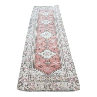 1970s Vintage Turkish Hallway Runner Rug - 2′9″ × 9′9″ For Sale