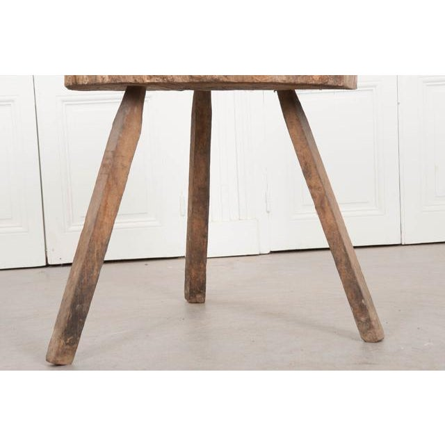"""Mid 19th Century French 19th Century Provincial """"Tree-Trunk"""" Chopping Block Stool For Sale - Image 5 of 8"""