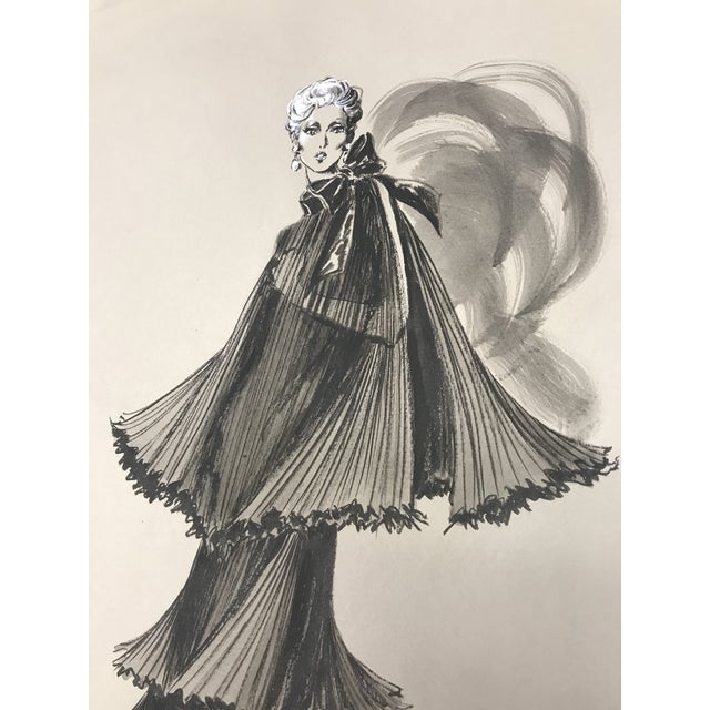Robert W. Richards for Cardinali Original Fashion Sketch - Image 6 of 9