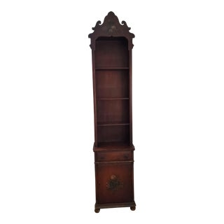 Early 20th Century Solid Mahogany Hand Painted Bookcase For Sale