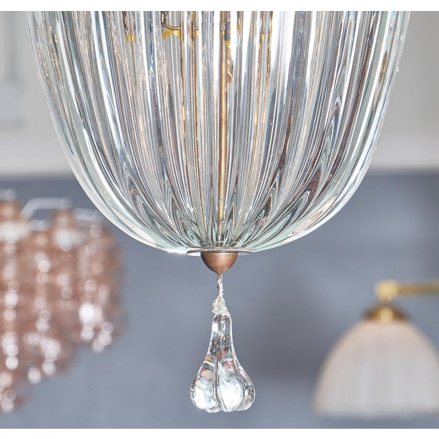 Transparent 1950s Murano Glass Lantern by Barovier For Sale - Image 8 of 10