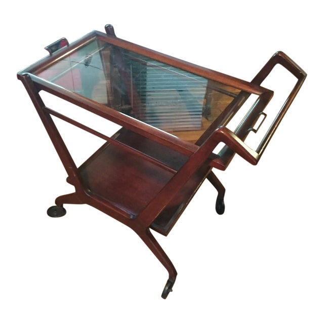 1950s Cesare Lacca Mid Century Modern Bar Cart - Image 1 of 6