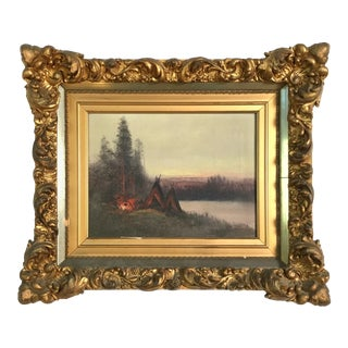 19th Century Original American Hudson River Oil Painting For Sale