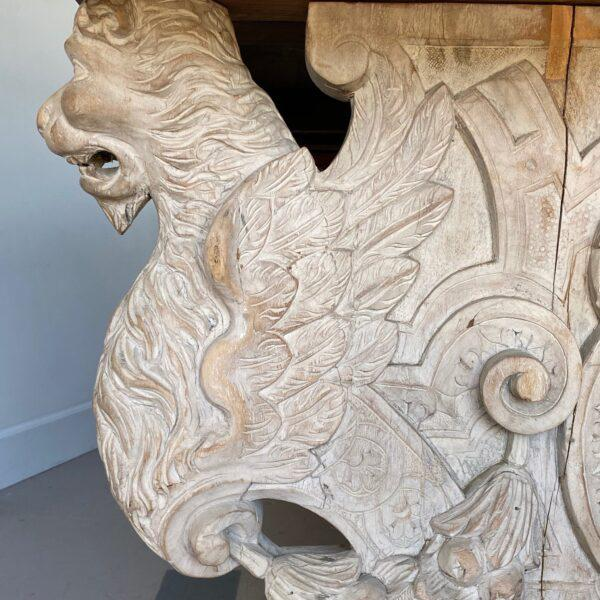 19th C. Carved Spanish Trestle Table For Sale In West Palm - Image 6 of 8