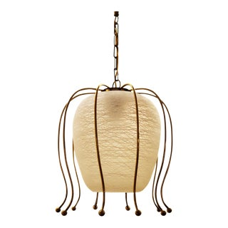 Brass Hanging Lamp by Rupert Nikoll, 1970s For Sale